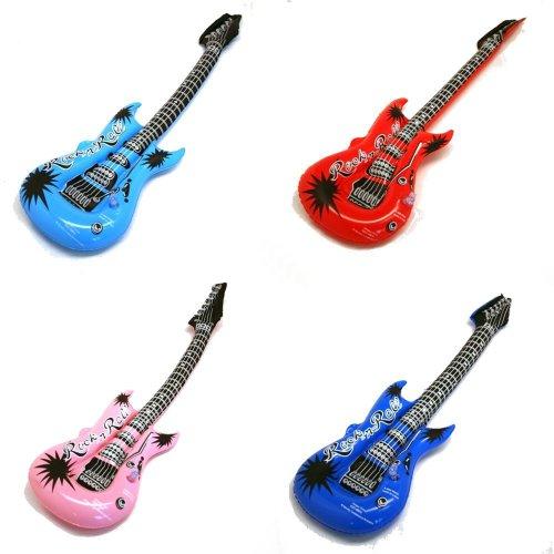 Preisvergleich Produktbild Rhode Island Neuheit (Packung mit 12) Aufblasbare Rockstar E-Gitarre