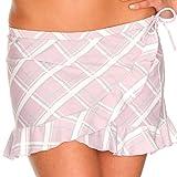 IQ-Company Damen Beach Skirt Villivaru, 3601_check lilac, S, 659536_3601_S