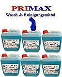 6x5 L Primax Flüssigwaschmittel blau mit Ausgießer u.Microfasertuch Waschgel Konzentrat ähnl.Waschpulver Power Aktiv