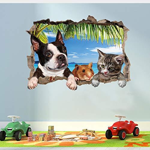 n Wand Sticker Hund Maus Kinder Zimmer Home Decor Wandsticker Wand Aufkleber Kinder Zimmer Wandbild ()
