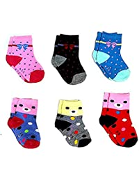 Sio™ Premium Cotton Woolen Mix Baby Boys/Girls Socks (6 Month to 5 Yrs) Pack of 6 Pairs (6-12 Months)