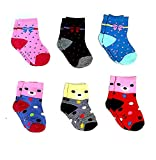 Sio Premium Cotton Woolen Mix Baby Boys/Girls Socks (6 Month to 5 Yrs) Pack of 6 Pairs (6-12 Months)