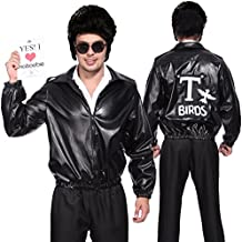 Anladia - Disfraces Adultos Chaqueta de T-Bird Talla XL (44) Cosplay Dress Fiesta Carnaval Halloween
