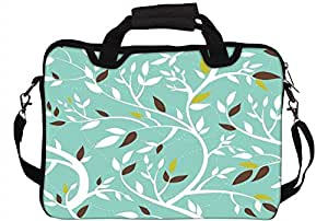 Snoogg White Leaves 17 inch to 17.6 inch Laptop Notebook Slipcase Sleeve Soft Case Carrying Case for Macbook Pro Acer Asus Dell Hp Sony Toshiba