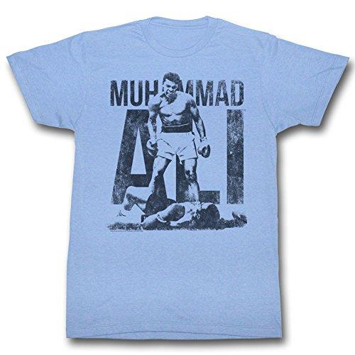 Muhammad Ali - - T-shirt bleu pour hommes Lt Blue Heather