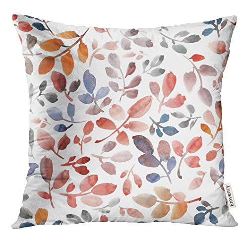 Throw Pillow Cover Black Floral with Japanese White Cranes in Different Poses F Red Asian Decorative Pillow Case Home Decor Square 18x18 Inches Pillowcase -