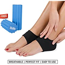 Plantar Fasciitis 2in1 Bundle By Mello-Foot Arch Support Wrap & Foam Roller Set-Ideal For Foot Pain Relief, Therapy & Massager -Breathable Heel Pad & Textured Roller For Men & Women (Choose Sock Size) … (L)