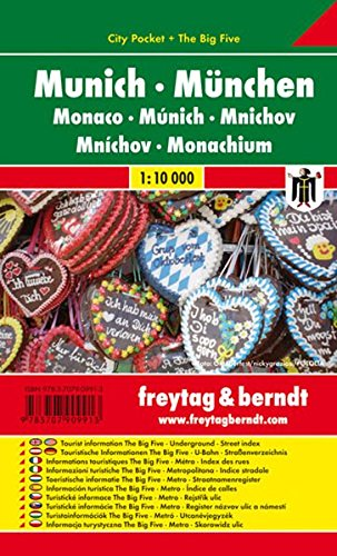 München, Stadtplan 1:10.000, City Pocket + The Big Five, wasserfest, Freytag Berndt Stadtpläne