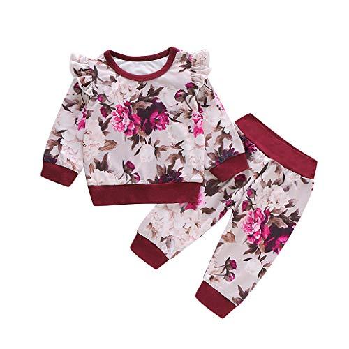 Vicgrey bambino abbigliamento elegante completo ragazza abbigliamento bimbi 0-2 anni bambino felpe t-shirt vestiti set tops pantaloni due pezzi set