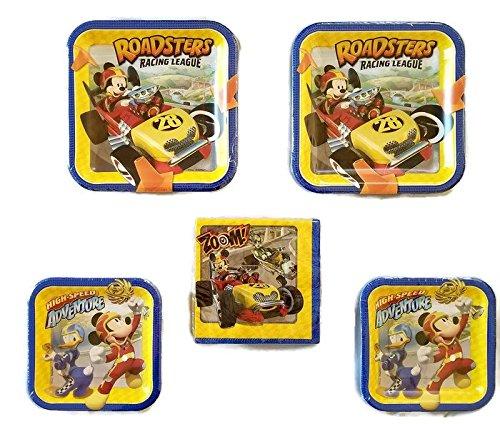 nd der Roadster Racers 'Party Bundle 22,9cm Teller (16) 17,8cm Teller (16) Mittagessen Servietten (16) ()