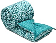 COZY FURNISH® Microfiber Filled-AC Comforter/Duvet/Rajai/Special Quilt for All Seasons - Printed Reversible Co