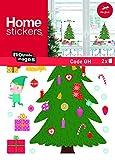 Nouvelles Images Stickers Design Sapin de Noël Décoré/Cadeaux, Polyvinyle, Multicolore, 32 x 23 x 0,02 cm