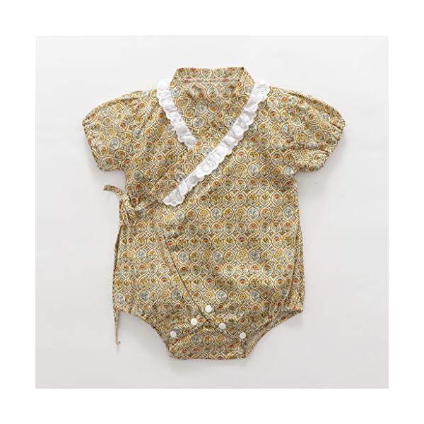 HEETEY Pijama para niña, para recién Nacidos, de Manga Corta, diseño Floral, Mono, sin Mangas, de una Sola Pieza, para… 2
