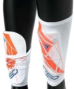 adidas Schienbeinschützer F50 Pro Lite, white/infrared/bright blue f12, L, W44149,