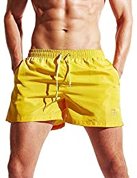 c4db31e05a Okany Mens Beach Shorts Quick Dry Swim Trunks for Men with Pockets Surfing  Swimming Watershort