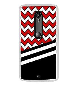 PrintVisa Black Damask Chevron High Gloss Designer Back Case Cover for Motorola Moto G3 :: Motorola Moto G 3rd Gen :: Motorola Moto G Gen 3 :: Motorola Moto G Dual SIM 3rd Gen :: Motorola Moto G3 Dual SIM