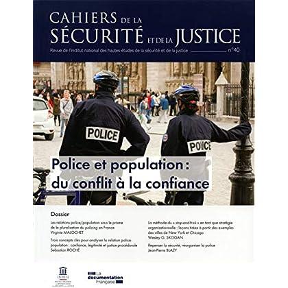 Police et Population: du Conflit a la Confiance