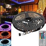 Dream Edge LED Ruban 2x50CM + 2x100CM USB SMD5050 DC 5V RGB LED Light Strip TV Rétro-éclairage Bar Kit + Télécommande Convient pour Chambre Salon Cage d'escalier (Waterproof : NO)