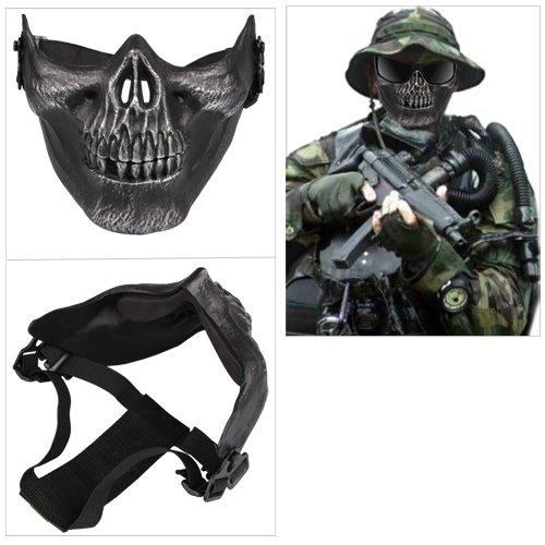 Softair Maske Totenkopf Schädel Halbschutzmaske Skelett