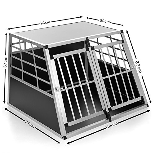 Happypet DGTC09 Hundetransportbox 91 x 104 x 69 cm Aluminium
