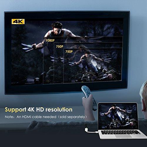 TopElek 4Kx2K Thunderbolt Mini Displayport 1080P auf HDMI HDTV AV TV 4K Auflösung und 3D Adapter Kabel Stecker Konverter für Apple Macbook, Macbook Pro, iMac, Macbook Air, Mac Mini Laptop Microsoft Surface Pro/ Pro 2/ Pro 3, Thinkpad X1/ Carbon/ Touch/ Helix usw.