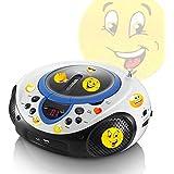CD lecteur MP3 USB port radio récepteur portable AUX LED dans l'ensemble, y compris les autocollants smiley