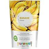 Reines Pulver aus gefriergetrockneten Bananen in veganer Rohkostqualität, ideal für Shakes, Smoothies, Joghurt, Eis, zum Kochen oder Backen, 120g Pulver entsprechen ca. 1Kg frischen Früchten