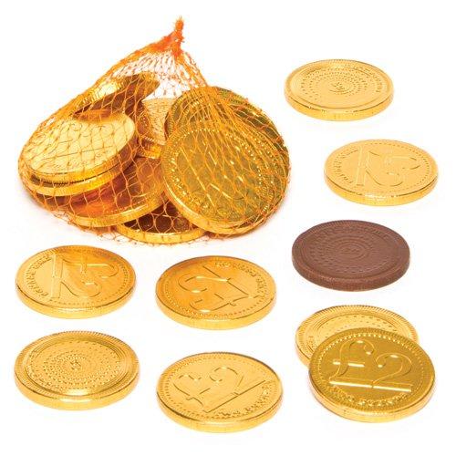 Baker Ross Goldene Schokotaler - Perfekt als Kleine Überraschung oder Preis bei Partyspielen (15 Stück) (Schokolade Schokolade-münzen)