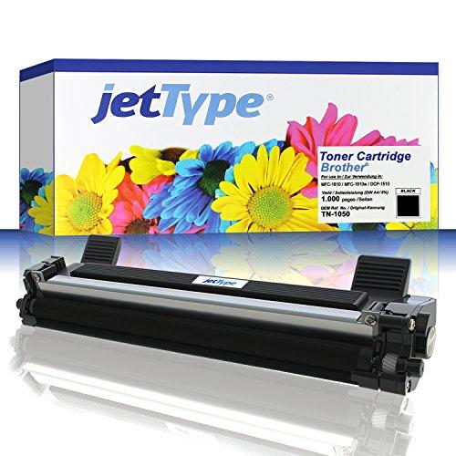 Preisvergleich Produktbild jetType Toner ersetzt Brother TN-1050 für MFC-1810 / MFC-1910w / DCP-1510 / DCP-1512 / HL-1110 / DCP-1610w / DCP-1612w / HL-1210w, schwarz, 1.000 Seiten