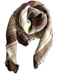 Fashionyoung FY Automne Hiver Enfants Filles Mode Echarpe Chauffante Foulards Cachemire Châle Wraps avec Gland Plaid Carreaux Doux Épaisse Chaude Xmas Noël Cadeaux