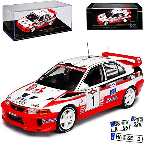 Mitsubishi Lancer Evo Evolution 5 Sanremo 1998 Mäkinen RAM521 1/43 Ixo Modell Auto (Lancer Modell Auto)