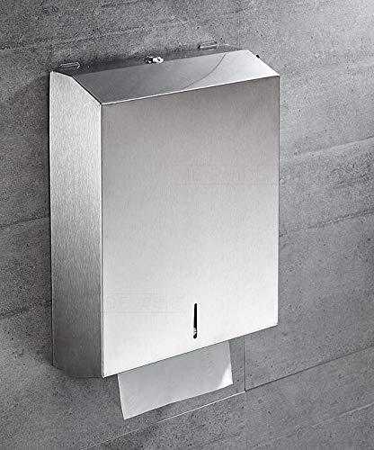 Dispenser di carta asciugamani in acciaio inox 18/8 (sus304), finitura opaca, design moderno, 28333