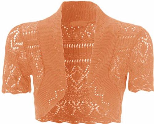 Nouveaux Femmes Grande Taille cultures Knnited Cardigans Femmes Vêtements 36-48 Corail