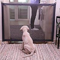 Magic Pet Safety Gate - Portátil y plegable Safe Guard Cerramiento de seguridad para mascotas Dog Cat Fences, Net de aislamiento para mascotas Instale en cualquier lugar, perfecto para paredes de puertas de coche Stairwells - Set de 9