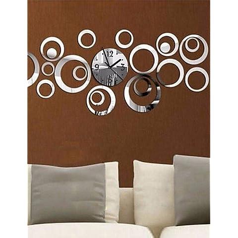 Da Wu Jia wall arte DIY Acrilico 3D Specchio Home Decor anello circolare Butterfly Orologio da parete con superficie a specchio adesivo , golden - Quarzo Contemporaneo Anello