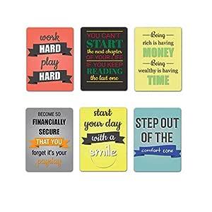 Tinywalk Fridge Magnets Quotes Set of 6 (1.5x2)