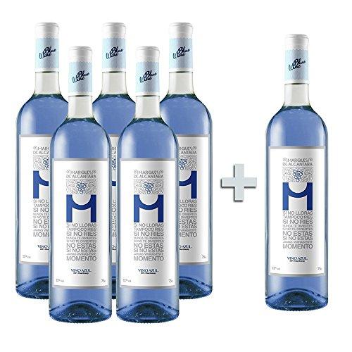 Vino Azul Marqués de Alcántara 5 Botellas + 1 GRATIS width=