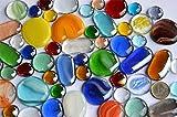 54 Stück Deko Mosaiksteine Glasnuggets Buntmix 15-50 mm ca.480g