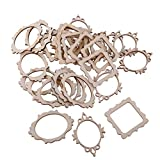 #6: Generic 10 Packs Of 3 Unfinished Wooden Frame Craft Supplies