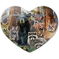 097c18aeea31a Sequoia and Kings Canyon National Parks California CA Animals Bear Waschbär  Bobcat Hirsch Herz Acryl Kühlschrank