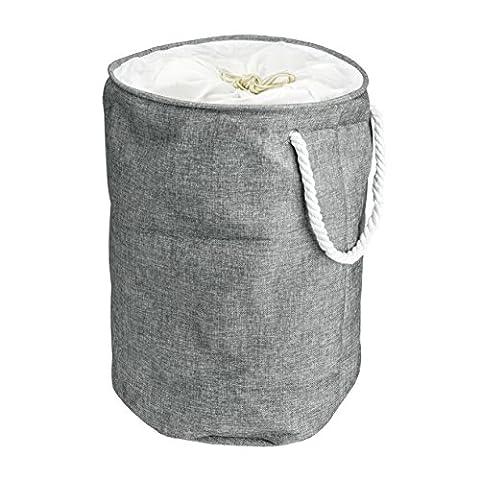 Wäschekorb faltbar und tragbar – großer und runder Korb – zusammenklappbarer Wäschesammler mit Tragegriffen – Wäschebox aus 100% Baumwolle - Arc Premier