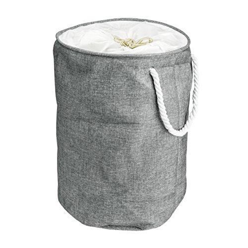 Cesto portabiancheria di qualità - portabiancheria 100% in cotone lavabile con maniglie - ideale per panni sporchi, da viaggio, per trasportare vestiti - cesto biancheria cilindrico - arc premier