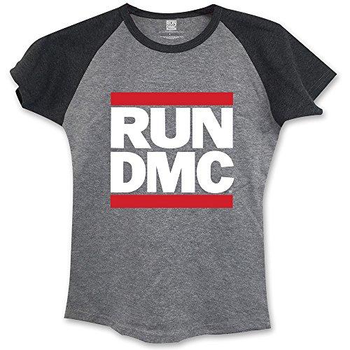 Rockoff Trade Run DmC Logo Raglan, T-Shirt Donna Grey