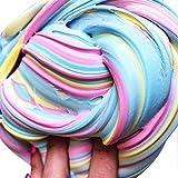 Jacobssen Fai da Te colorato Fluffy Schiuma Slime Putty Stress Relief Magia Slime fanghi Cotone Fango Bambini Giocattolo Adulto Antistress Giocattoli Argilla (Colore: Blu e Giallo e Rosa)