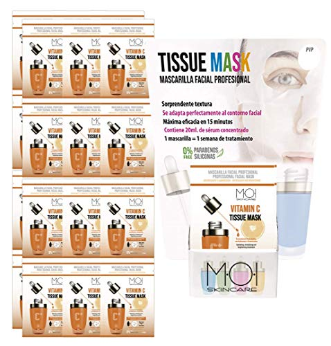 Gesichtsmaske Vitamin C Tissue feuchtigkeitsspendende und belebende Gesichtsmaske 1 Anwendung M·O·I SkinCare 24 -