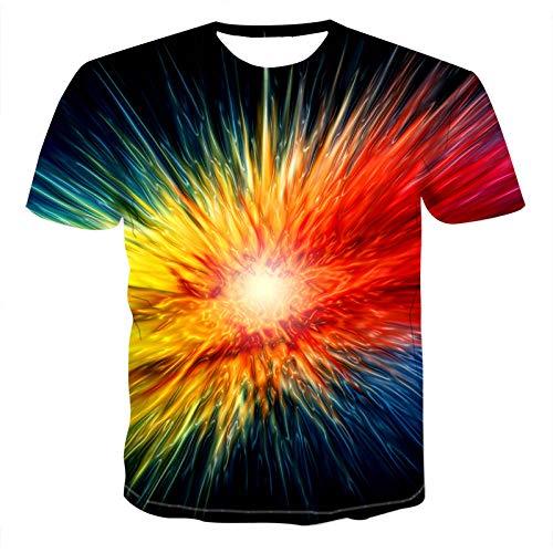 Das T-Shirt der Männer, Aurora 3D HD Druck-T-Shirt Ms./Men's lustiges Neuheits-T-Shirt beiläufiges kurzes Hülsen-Oberseiten Unisex Apparel-5XL (Kostüme Aurora Jugendliche Für)
