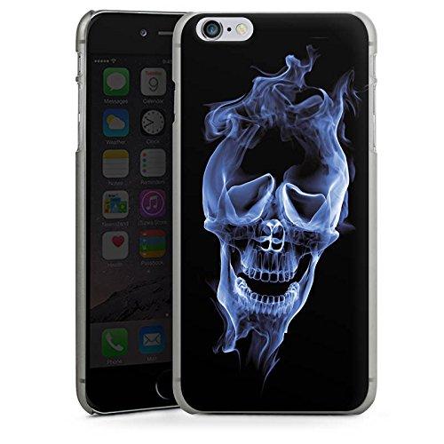 Apple iPhone X Silikon Hülle Case Schutzhülle Halloween Skull Rauch Hard Case anthrazit-klar