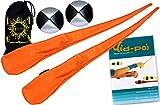 Flames N Games Pro Socken-Poi (Orange) Set + Kid Poi DVD (in Deutsch) Sock Poi (inkl. 2x Beanbags Bälle) + Reisetasche. Swinging Poi und Spinning Pois! Pois für Anfänger und Profis.