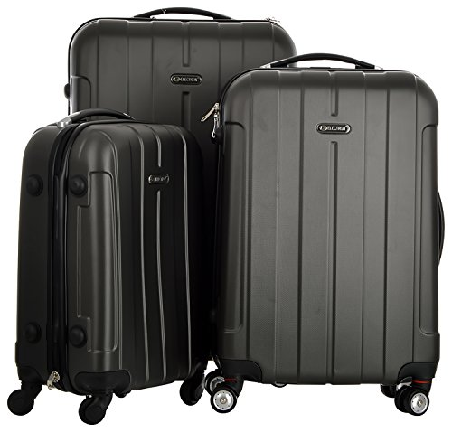 Electron Abs Set Of 3 Grey Hardsided Luggage Set