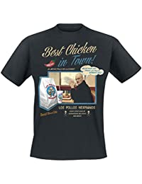 T-shirt Breaking Bad Los Pollos Hermanos Best Chicken meilleur poulet coton noir